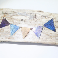 Coloured Titanium 'Bunting' Necklace - UK Free Post
