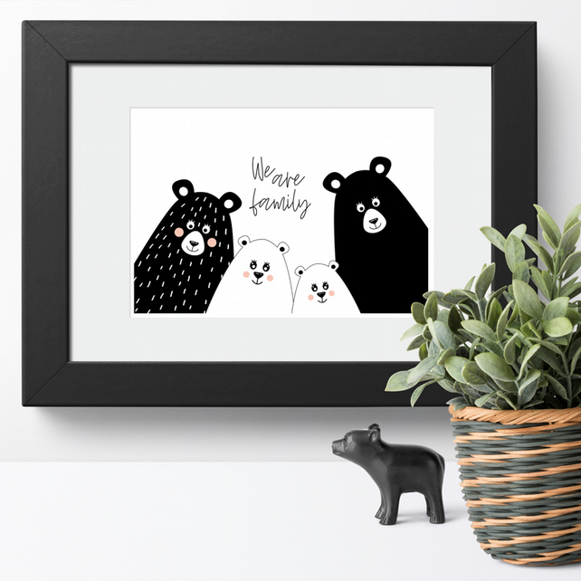We Are Family art print, family themed wall art