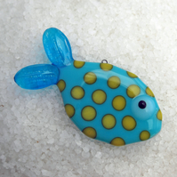 Spotty Fused Glass Fish Decoration