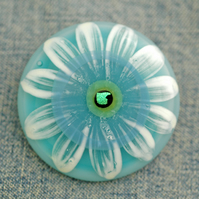 Fused Glass Flower Brooch