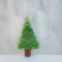 Fused Glass Christmas Tree Decoration
