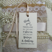 Thank You for Travelling To Share Our Special Day - Personalized Wedding Favors