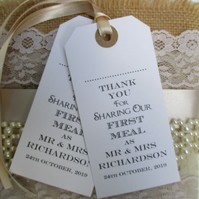 Name Place Tags -Thank You for Sharing Our First Meal
