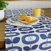 Blue Bloom Flower Table Runner
