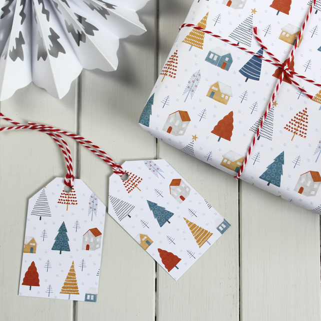 Alpine Village Gift Wrap