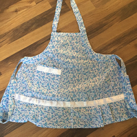 Blue flower childs apron
