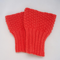 Boot Cuffs, Hand Knit Boot Cuffs, Boot Toppers in Orange