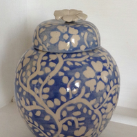 Ginger jar in blue and white