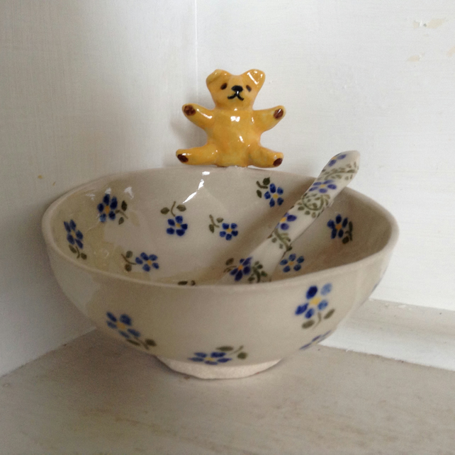 Bowl with teddy bear