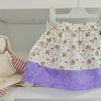 Summer skirt 2 years mauve floral little girl toddler