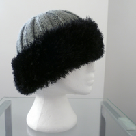 Hand knitted lds. Russian Style Cossack hat