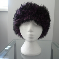 Hand knitted Ladies' hat in the style of a Russian Cossack hat