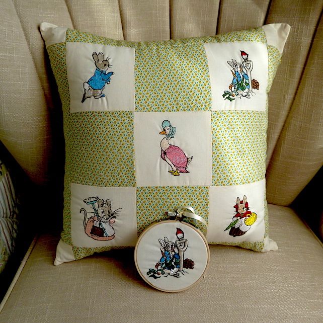 Beatrix Potter inspired cushion