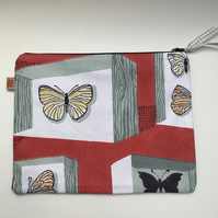 Vintage Butterfly zip pouch