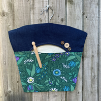 Vintage Flower Waltz and denim peg bag