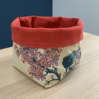 Faux suede fabric basket