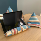 Striped tablet and phone beanbag set