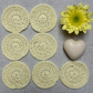 Handmade Reusable Vegan Yellow Cotton Face Scrubbies Make-up Wipes Set of 7