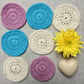 Face Scrubbies Handmade Reusable Multicoloured Cotton Make-up Wipes Set of 7