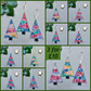 Japanese Tiny Blossoms Fabric Christmas Tree Decorations