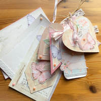 Pretty Pastel Shabby Chic Style Ephemera Journaling Set