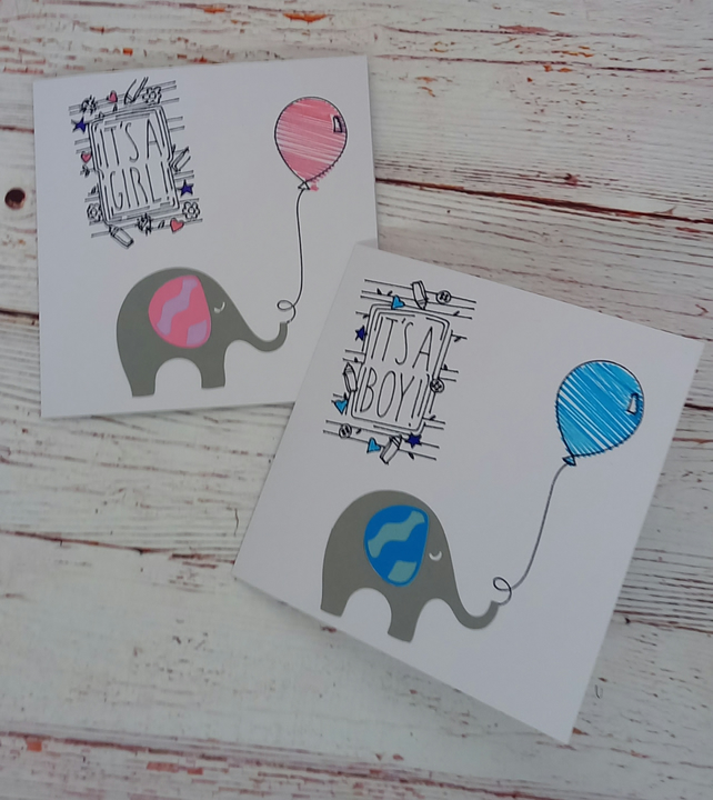 New Baby Card, It's A Boy, It's A Girl, Congratulations Card