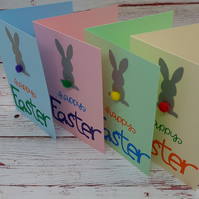 Easter Greetings Card Pack, Cute Bunny Card Notelets
