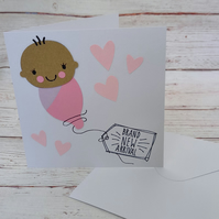 New Baby Card, New Arrival Congratulations Card, Cute New Baby Card