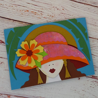 Elegant Lady Greetings Card, Birthday Card for Her, Sister, Mum, Aunty, Friend