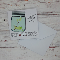 Get Well Soon Card, Funny Get Well Card, Caught A bug Card