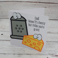Funny Cheesy Father's Day Card, Cheesy Card for a Grate Dad, Father's Day 2021