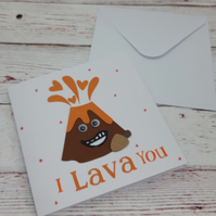 I Lava You, Anniversary Card, Handmade Love Card for that special someone