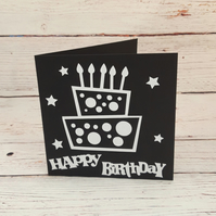 Birthday Card, Simple Happy Birthday Card, For him or her, plain, fun card