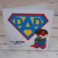 Superhero Birthday for Dad, Card for Best Dad, Birthday card for my Hero