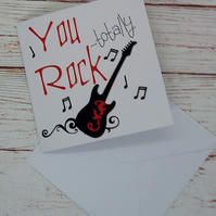 You (Totally) Rock - Thank-you Card, Fun Thanks Card for Music Lovers