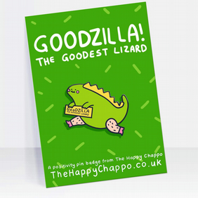 Goodzilla Enamel Pin Badge