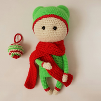Christmas decoration doll Handmade interior doll New Year gift Collection doll