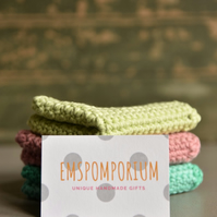 100% Cotton washcloths - Available in bespoke colours