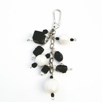 Handbag charm - black and white