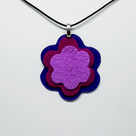 Textured polymer clay pendant