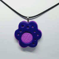 Cutout polymer clay pendant necklace