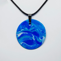 Marble clay pendant