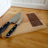 Pyrography Celtic knotwork wooden serving or chopping board
