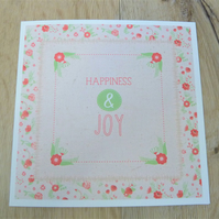 happiness and joy card