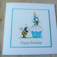 bee with cupcake card