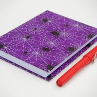 A6 Hardback Notebook with full cloth spider cover