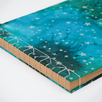Galaxy cover photo album with Japanese stab binding