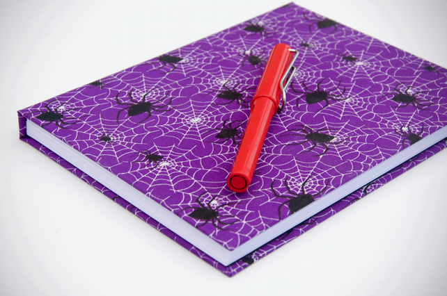 A5 hardback notebook with full cloth spider cover