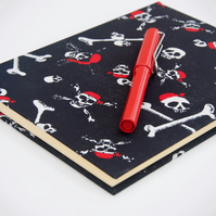 A5 Hardback Notebook with full cloth pirate cover