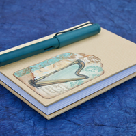 A6 Hardback Notebook with kraft paper cover and harp motif